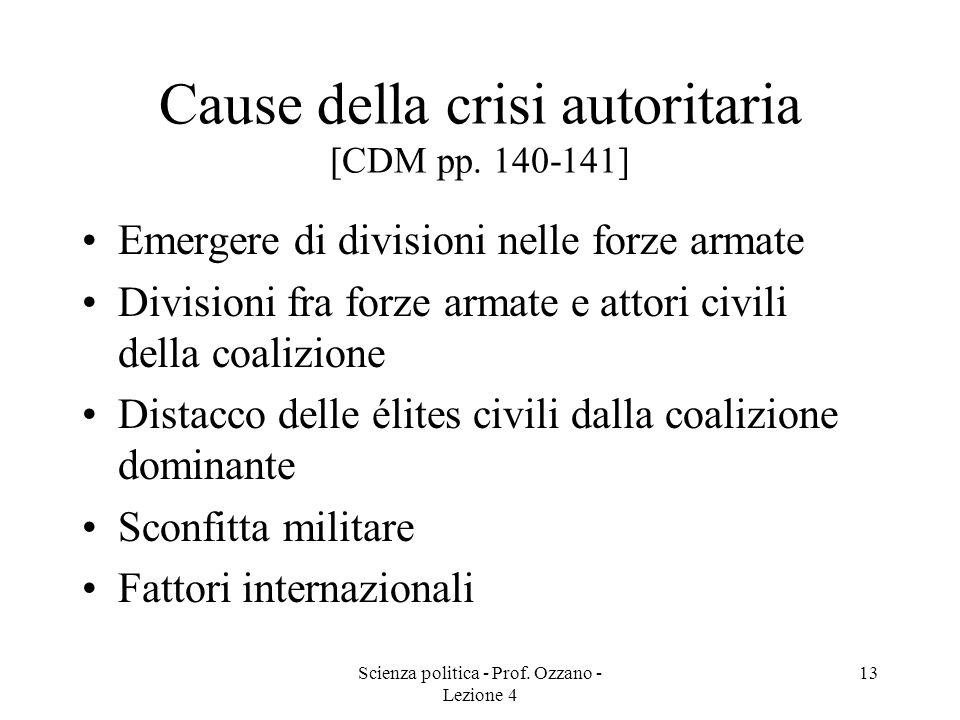 Cause della crisi autoritaria [CDM pp. 140-141]